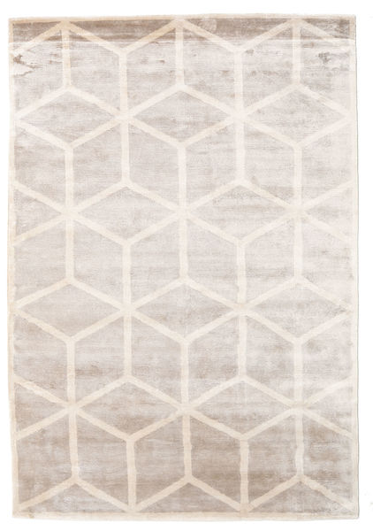 Facets Rug 300X400 Authentic  Modern Handknotted White/Creme/Light Grey Large ( India)