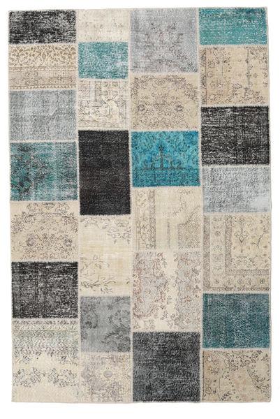 Patchwork Rug 198X302 Authentic  Modern Handknotted Light Grey/Dark Beige (Wool, Turkey)