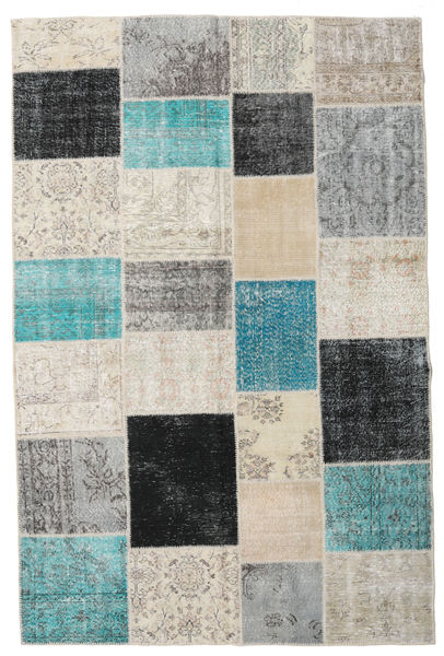 Patchwork Rug 198X301 Authentic  Modern Handknotted Light Grey/Dark Beige (Wool, Turkey)