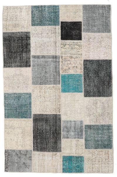 Patchwork Rug 197X302 Authentic  Modern Handknotted Light Grey/Dark Grey (Wool, Turkey)