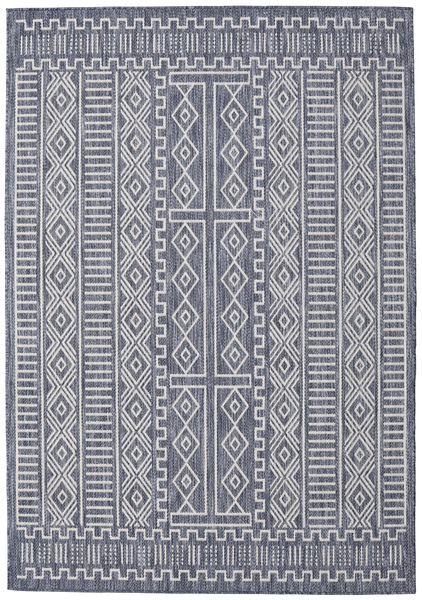 Peru - Tummansininen / Beige-matto RVD20558