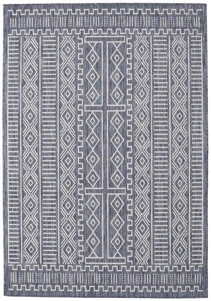 Peru - dunkelblau / Beige Teppich RVD20559