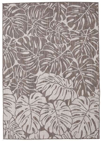 Tapis Monstera - Marron / Gris Clair RVD20551