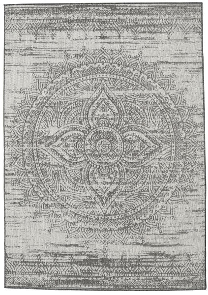 Mandala - Tummanharmaa / Beige-matto RVD20621