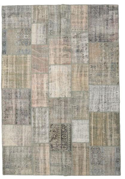 Patchwork Rug 204X295 Authentic  Modern Handknotted Light Grey/Light Brown (Wool, Turkey)