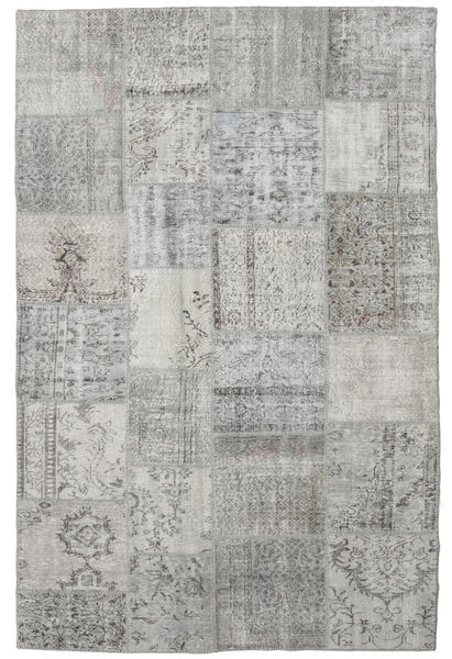 Patchwork Rug 198X300 Authentic  Modern Handknotted Light Grey (Wool, Turkey)