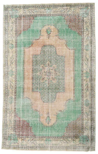 Taspinar Rug 206X330 Authentic  Oriental Handknotted Light Grey/Light Brown/Pastel Green (Wool, Turkey)