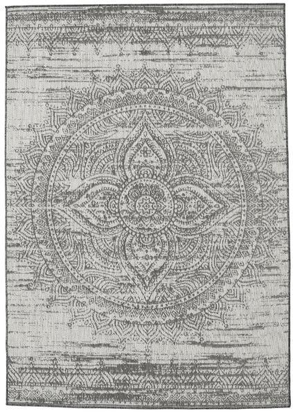 Tappeto Mandala - Grigio scuro / Beige RVD20620