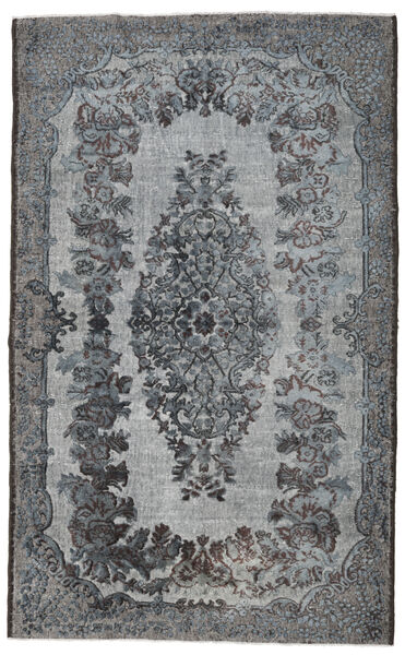 Colored Vintage Relief Rug 182X297 Authentic  Modern Handknotted Dark Grey/Light Grey (Wool, Turkey)