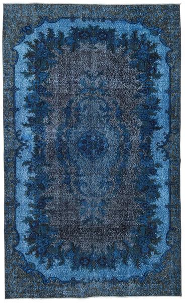 Colored Vintage Relief Tapijt 173X284 Echt Modern Handgeknoopt Donkerblauw/Blauw (Wol, Turkije)