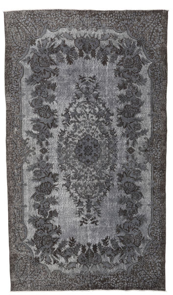 Colored Vintage Relief Rug 167X300 Authentic  Modern Handknotted Dark Grey/Light Purple (Wool, Turkey)