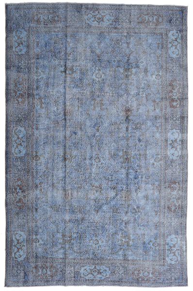 Colored Vintage Rug 207X320 Authentic  Modern Handknotted Light Blue/Light Grey (Wool, Turkey)