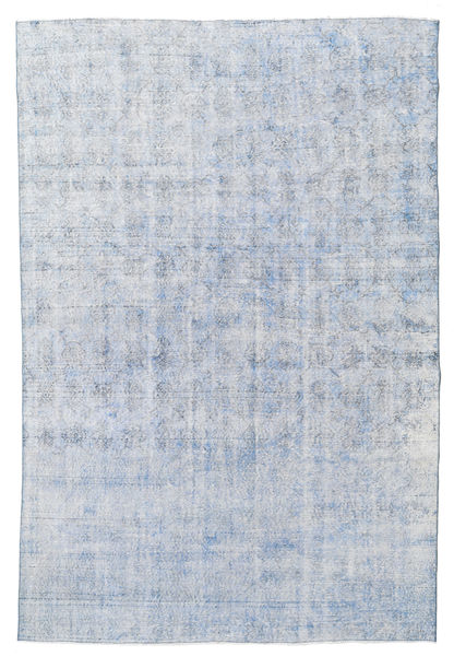 Colored Vintage Rug 212X317 Authentic  Modern Handknotted Light Blue/Light Grey (Wool, Turkey)