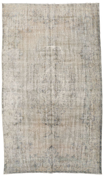 Colored Vintage Rug 190X334 Authentic  Modern Handknotted Light Grey/Light Brown (Wool, Turkey)