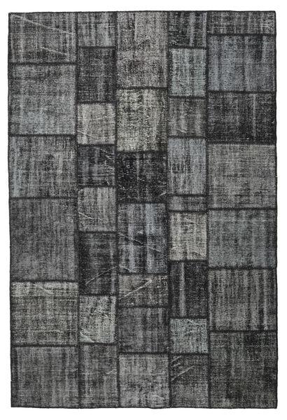 Patchwork Rug 205X304 Authentic  Modern Handknotted Dark Grey/Black (Wool, Turkey)
