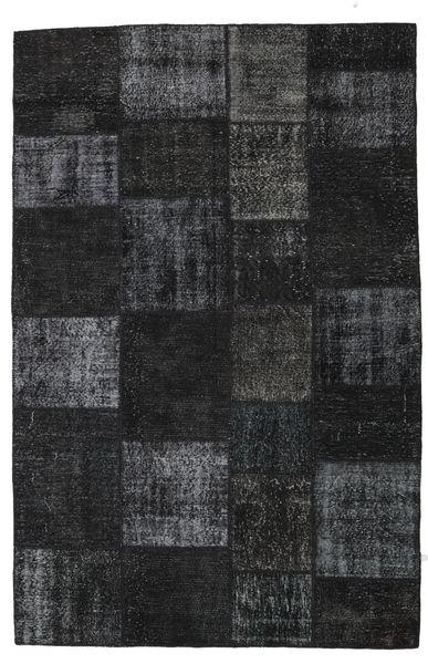 Patchwork Rug 198X302 Authentic  Modern Handknotted Black/Dark Grey (Wool, Turkey)