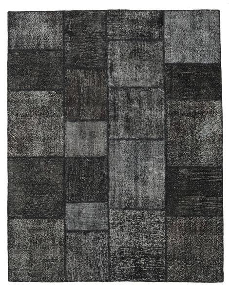 Patchwork Matto 200X250 Moderni Käsinsolmittu Tummanharmaa/Musta (Villa, Turkki)