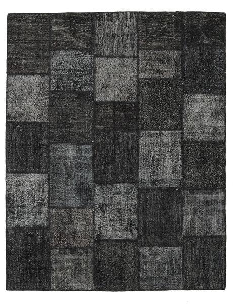 Patchwork Rug 198X250 Authentic  Modern Handknotted Black/Dark Grey (Wool, Turkey)
