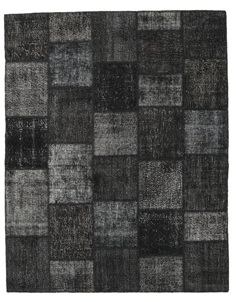 Patchwork Rug 199X250 Authentic  Modern Handknotted Black/Dark Grey (Wool, Turkey)