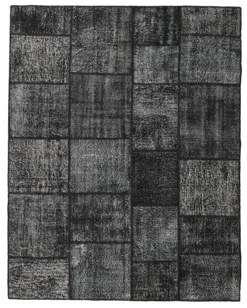 Patchwork Matto 199X252 Moderni Käsinsolmittu Tummanharmaa (Villa, Turkki)