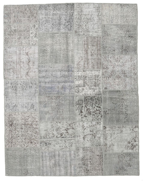 Patchwork Rug 197X251 Authentic  Modern Handknotted Light Grey (Wool, Turkey)