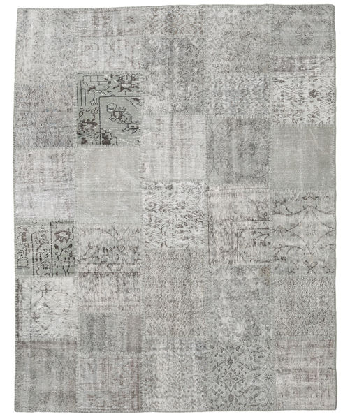 Patchwork Rug 197X248 Authentic  Modern Handknotted Light Grey (Wool, Turkey)
