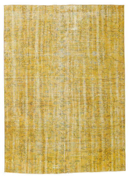 Colored Vintage Rug 182X253 Authentic  Modern Handknotted Yellow/Olive Green (Wool, Turkey)