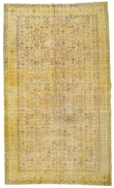 Colored Vintage Rug 173X296 Authentic  Modern Handknotted Yellow/Olive Green (Wool, Turkey)
