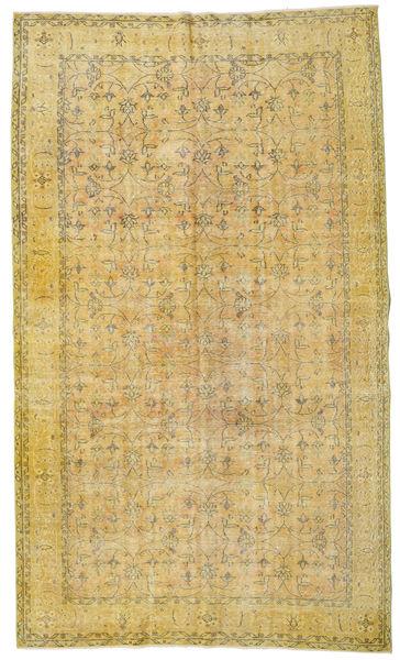 Colored Vintage Tapete 173X296 Moderno Feito A Mão Amarelo/Verde Azeitona (Lã, Turquia)