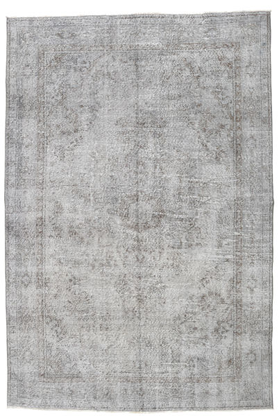 Colored Vintage Rug 206X309 Authentic  Modern Handknotted Light Grey (Wool, Turkey)