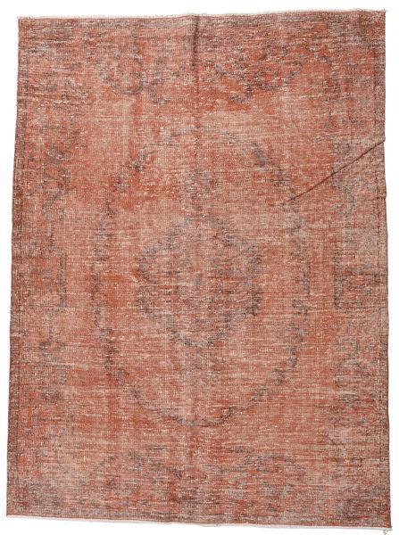 Colored Vintage Teppich  168X219 Echter Moderner Handgeknüpfter Braun/Hellbraun/Hellrosa (Wolle, Türkei)