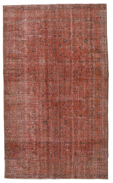 Colored Vintage Matta 154X257 Äkta Modern Handknuten Mörkröd/Mörkbrun (Ull, Turkiet)