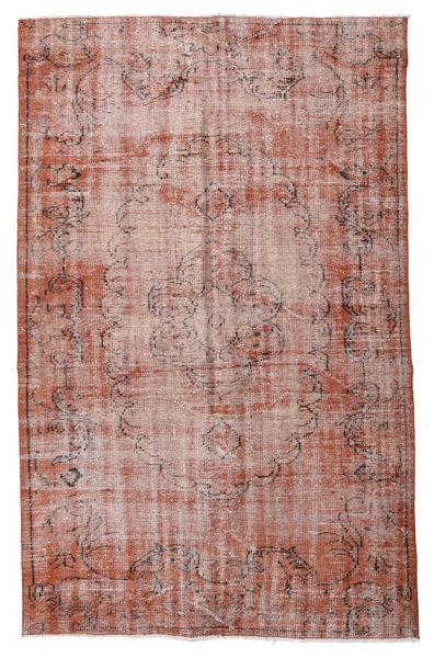 Colored Vintage Matto 161X254 Moderni Käsinsolmittu Vaaleanpunainen/Tummanpunainen (Villa, Turkki)