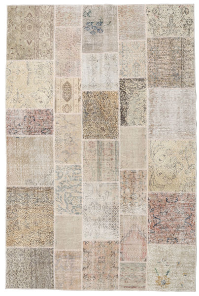 Patchwork Rug 200X300 Authentic  Modern Handknotted Light Grey/Light Brown (Wool, Turkey)