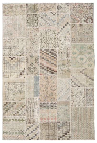 Patchwork Rug 200X301 Authentic  Modern Handknotted Light Brown/Light Grey (Wool, Turkey)