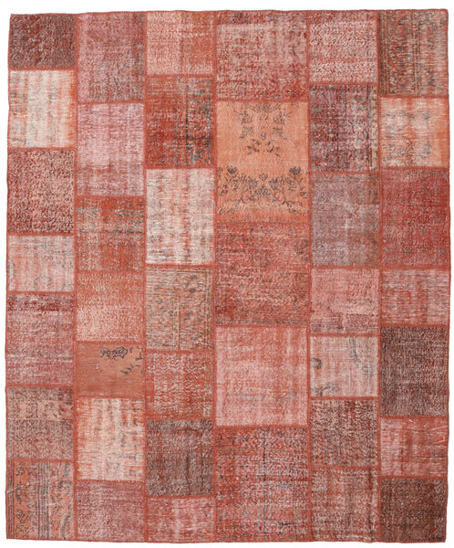 Patchwork Rug 252X300 Authentic  Modern Handknotted Brown/Light Pink Large (Wool, Turkey)
