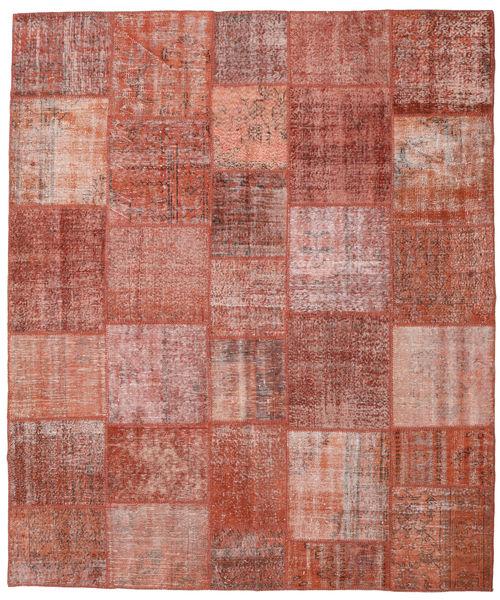 パッチワーク 絨毯 251X300 モダン 手織り 茶/ライトピンク 大きな (ウール, トルコ)