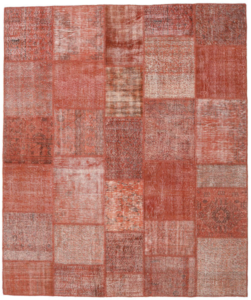 Patchwork Rug 252X299 Authentic  Modern Handknotted Brown/Light Pink Large (Wool, Turkey)