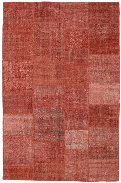 パッチワーク 絨毯 196X304 モダン 手織り 深紅色の/錆色 (ウール, トルコ)