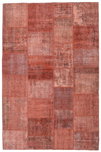 パッチワーク 絨毯 199X302 モダン 手織り 深紅色の/錆色 (ウール, トルコ)