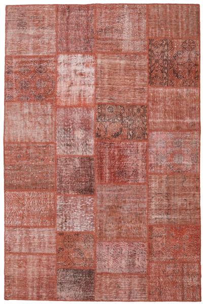 Patchwork Rug 198X302 Authentic  Modern Handknotted Brown/Purple (Wool, Turkey)