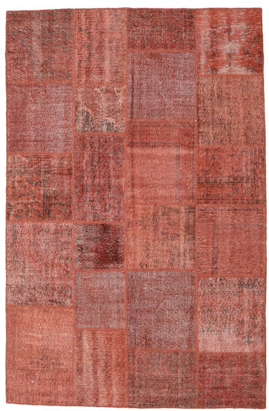 Patchwork Rug 196X300 Authentic  Modern Handknotted Brown/Rust Red (Wool, Turkey)