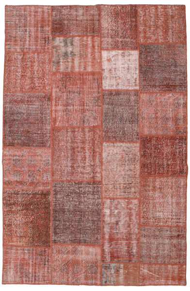 Patchwork Rug 195X298 Authentic  Modern Handknotted Brown/Light Pink (Wool, Turkey)