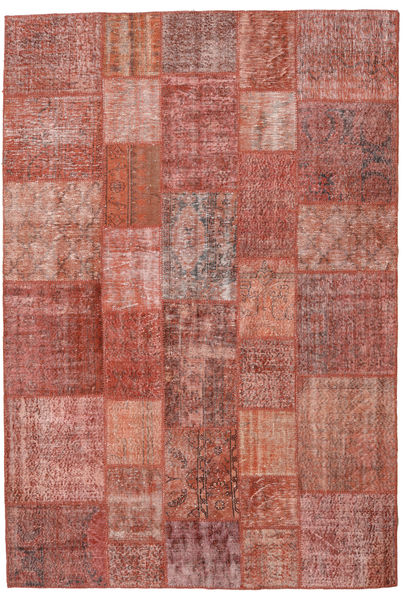 Patchwork Rug 204X300 Authentic  Modern Handknotted Brown/Light Brown (Wool, Turkey)