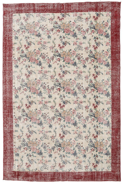 Colored Vintage Rug 207X314 Authentic  Modern Handknotted Light Grey/Light Brown (Wool, Turkey)