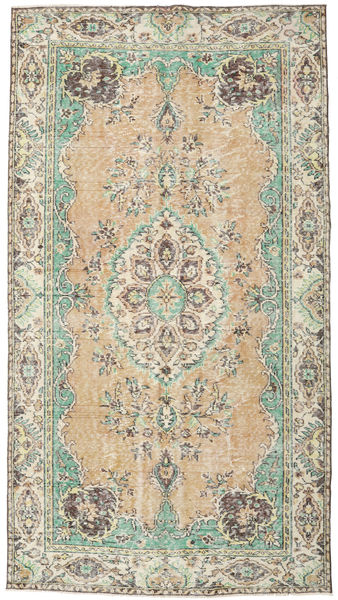 Colored Vintage Rug 181X330 Authentic  Modern Handknotted Light Brown/Beige (Wool, Turkey)