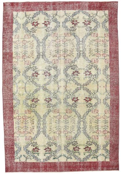 Colored Vintage Tapete 205X305 Moderno Feito A Mão Castanho Claro/Bege Escuro (Lã, Turquia)