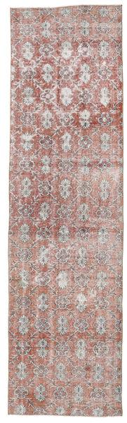 Colored Vintage Matto 92X330 Moderni Käsinsolmittu Käytävämatto Vaaleanpunainen/Vaaleanharmaa (Villa, Turkki)