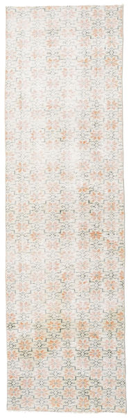 Colored Vintage Rug 86X290 Authentic  Modern Handknotted Hallway Runner  Light Grey/White/Creme (Wool, Turkey)