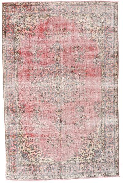 Colored Vintage Szőnyeg 161X251 Modern Csomózású Világos Rózsaszín/Világosszürke (Gyapjú, Törökország)